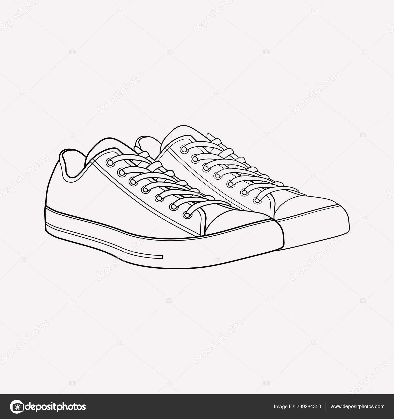 Converse shoes icon line element. illustration of converse