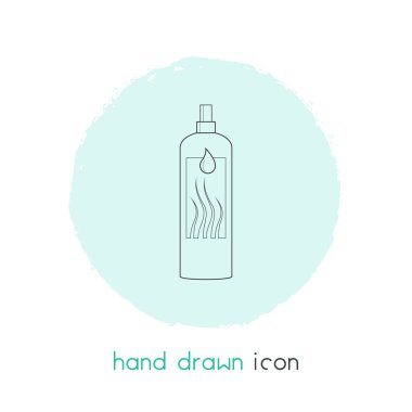 Hair conditioner icon line element.  illustration of hair conditioner icon line isolated on clean background for your web mobile app logo design.