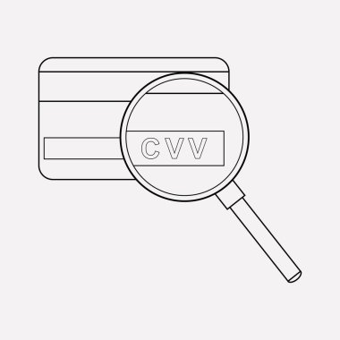 Cvv icon line element.  illustration of cvv icon line isolated on clean background for your web mobile app logo design.