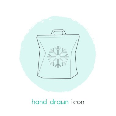 Freezer bag icon line element.  illustration of freezer bag icon line isolated on clean background for your web mobile app logo design.