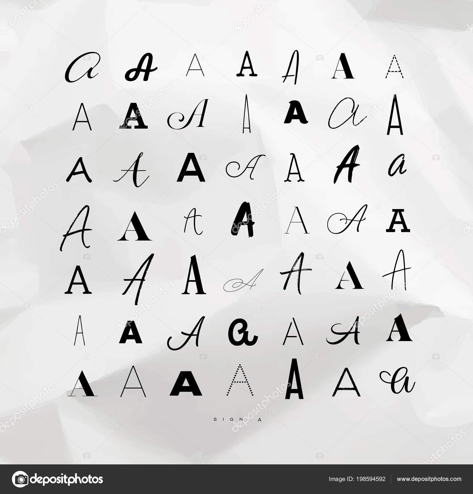 Conjunto Símbolos Decoración Hechos Mano Las Letras Dibujo