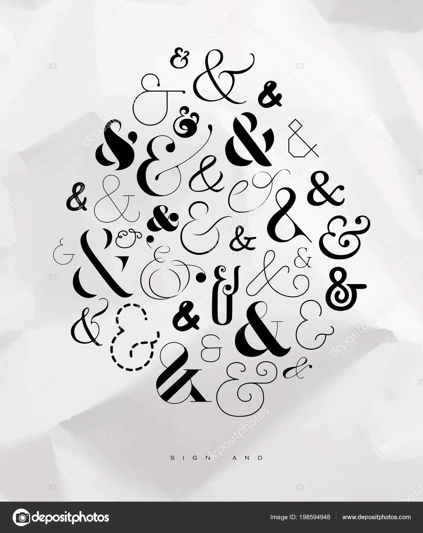 Símbolo Símbolos Decoración Dibujado Cartel Mano Dibujo