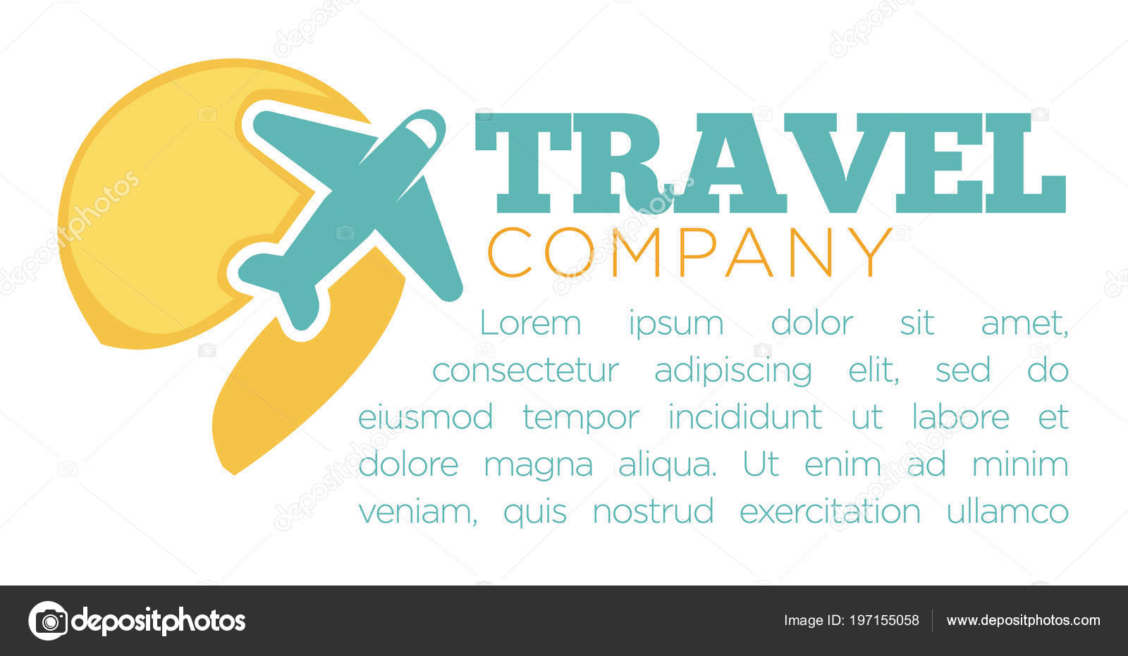 Travel Company Promotional Banner Airplane Sample Text