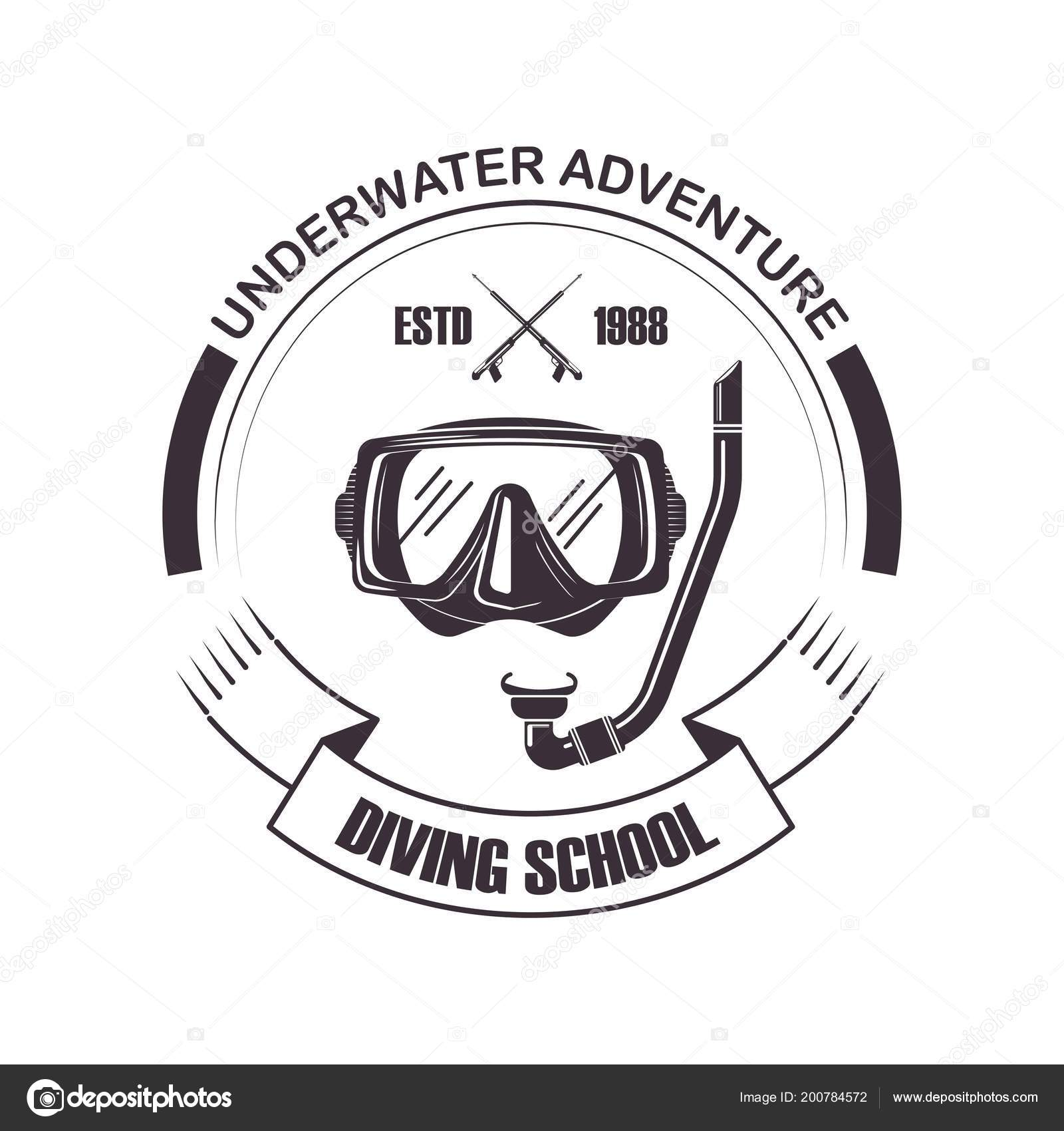 Diving School Or Scuba Diver Club Logo Template Vector By Sonulkaster