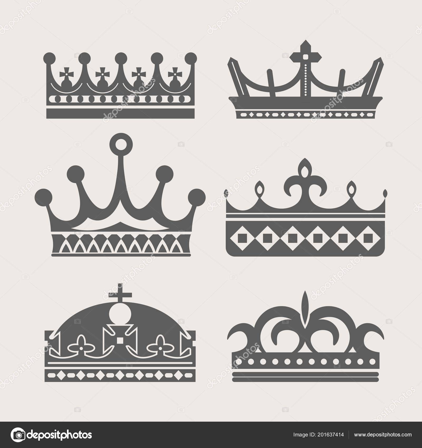 Crown Logo Royal Diadem Heraldic Tiara Symbol Vector Queen King