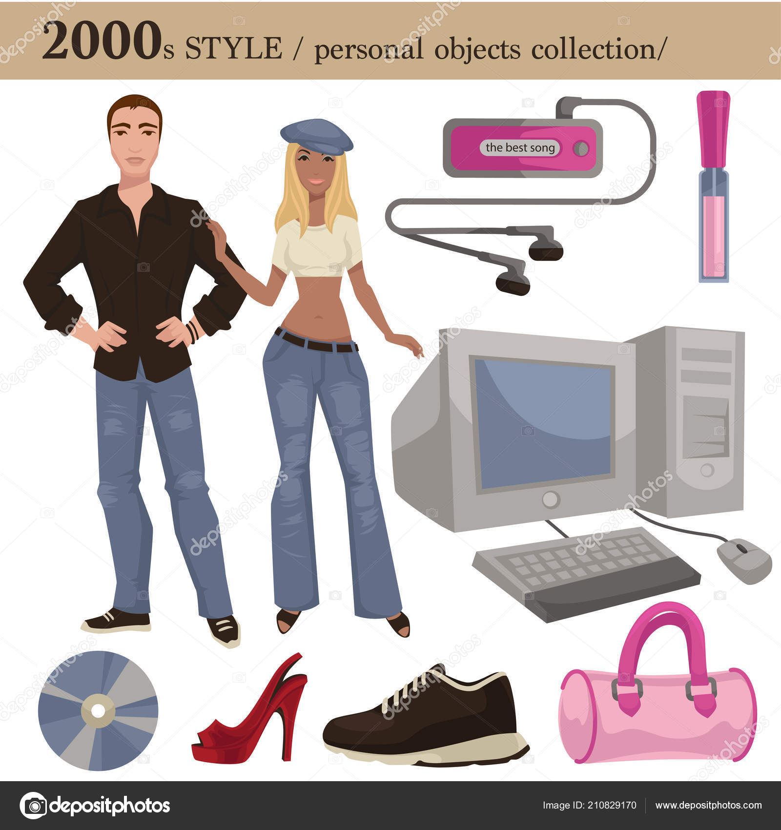 732749688829 2000 Estilo Moda Colección Objetos Personales Prendas Ropa Hombre ...