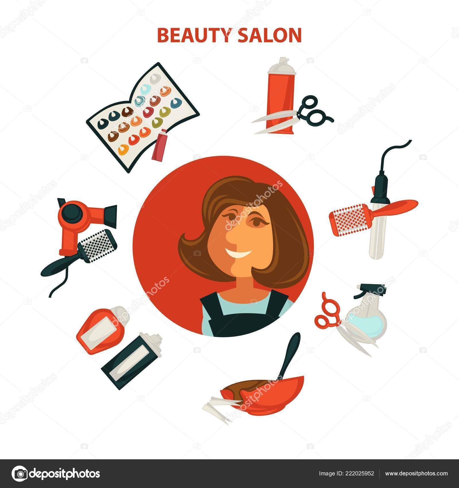 Haare Schönheit Oder Frau Friseur Salon Plakat Für Professionelle
