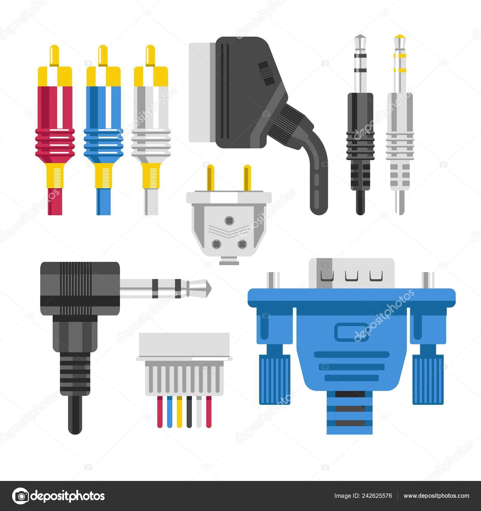 Miraculous Connection Cable Connectors Audio Video Adapters Plug Isolated Wiring Cloud Venetbieswglorg