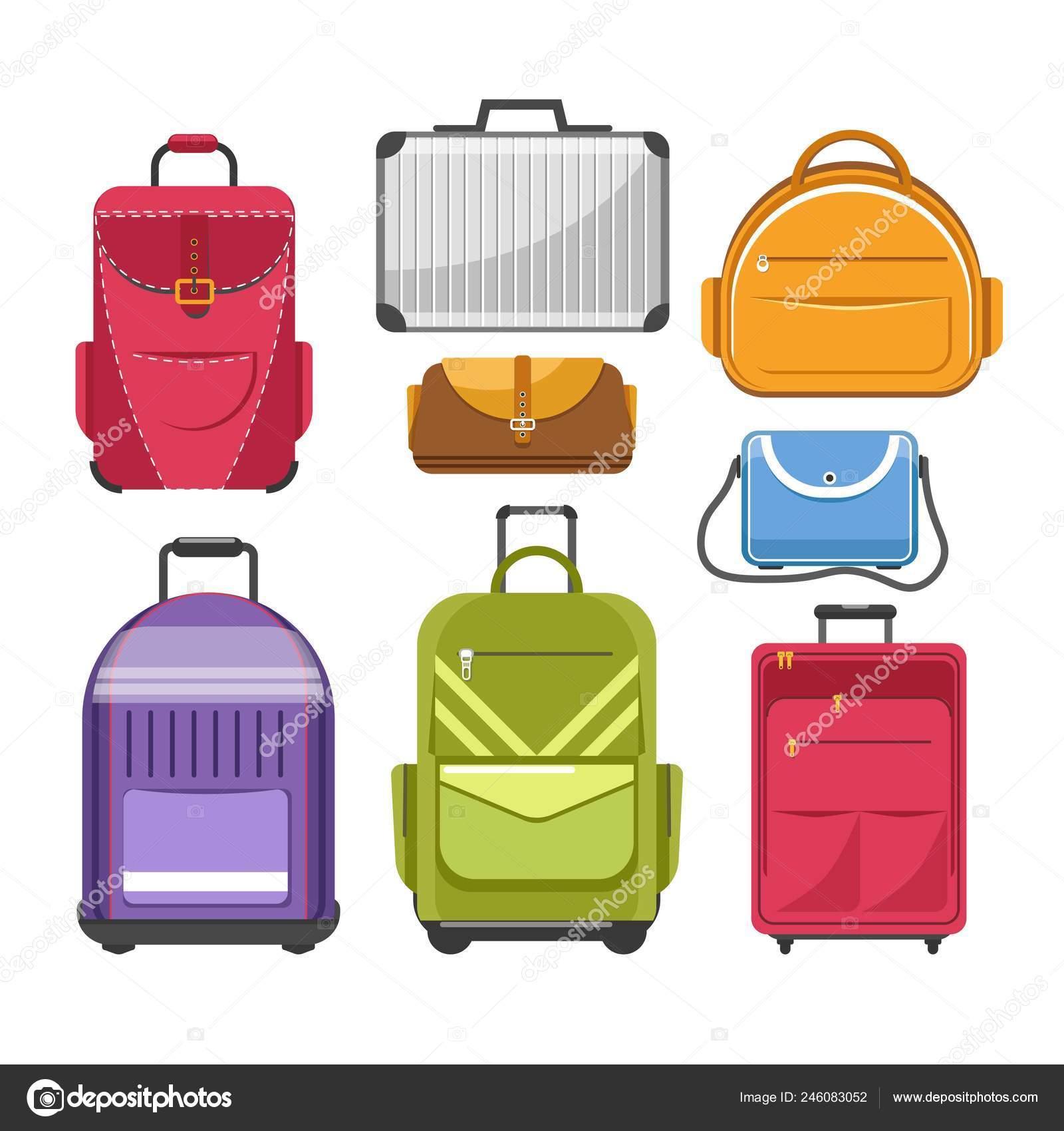 bea47d3b5428f Verschiedene Taschen Geben Modelle Der Reisetasche Handtasche Oder Rucksack  Und — Stockvektor