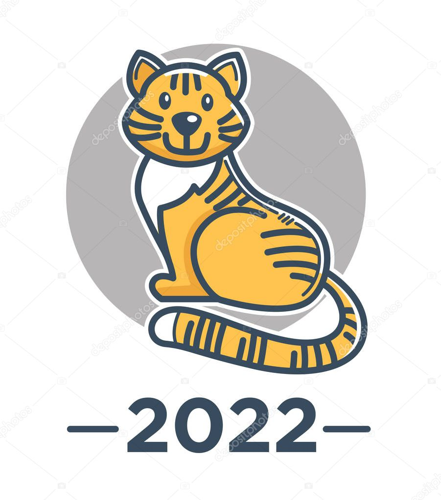 Chinese Zodiac Sign Tiger Isolated Icon Symbol Of Eastern Asian Horoscope Vector Lunar Calendar Animal Wild Cat Oriental New Year 2022 Feline Species China Tradition And Culture Religion Premium Vector In