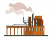Fotografie Luftverschmutzung, Fabrik oder Fabrik, Smog isolierte Bauweise