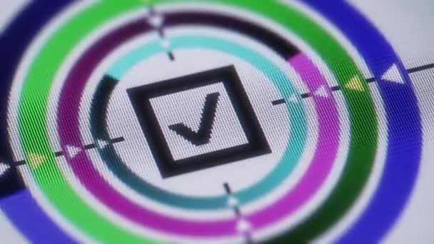 Zaškrtávací políčko ikona na obrazovce. Opakování