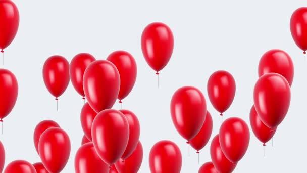 Létající balóny. Opakování. Alfa kanál je zahrnuta.