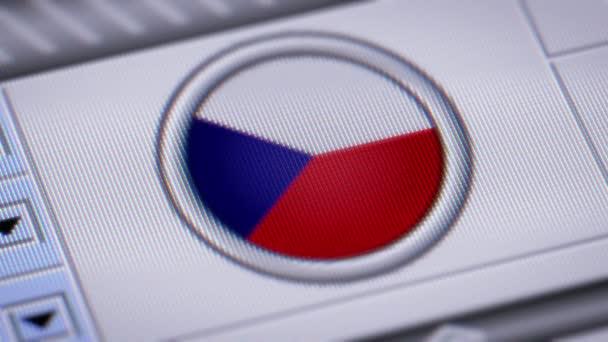 Stiskněte tlačítko s vlajkou ČR.