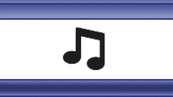 Hangjegy pixeles képernyőn. Hurok.