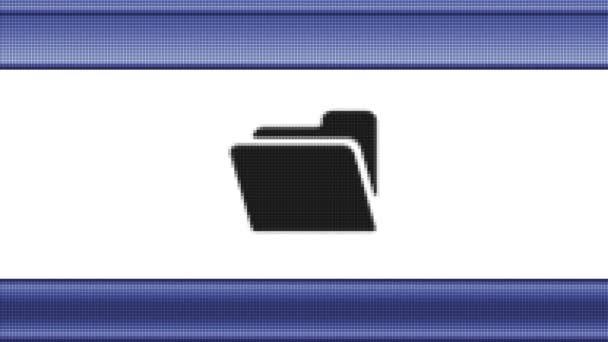 Soubor ikony na obrazovce pixel. Opakování