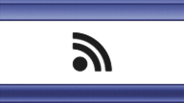 RSS ikony na obrazovce pixel. Opakování