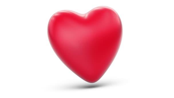 3D-Modell eines Herzens. Schleife.