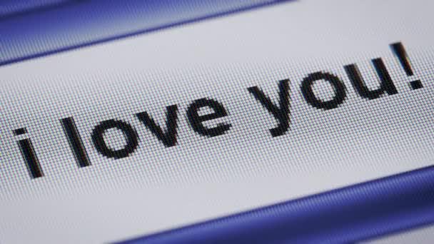 Miluji tě!na obrazovce. Opakování.