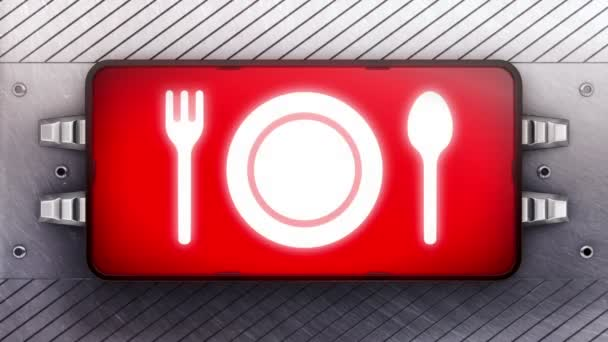 Večeře ikona na vývěskách. Opakování.