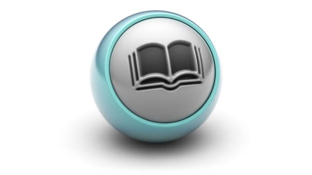 Book icon on the ball. Looping.
