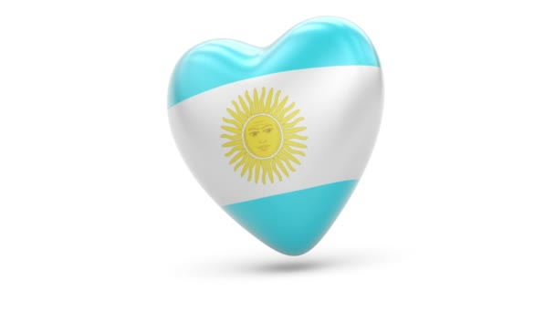 Flag of Argentina. Looping. Alpha channel.