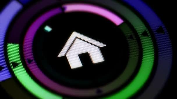 Dům ikony na obrazovce.