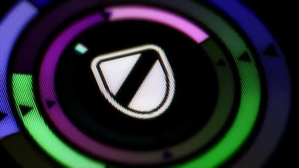 A képernyőn megjelenő pajzs ikon. Hurok.