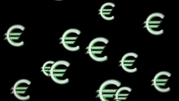 Létající ikony eura. Opakování.