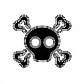Photo The black icon on the white background