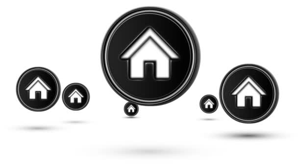 Na lyžích ikony domovské stránky. Opakování. Izolované na bílém pozadí