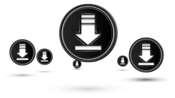 Přechod ke stažení ikony. Opakování. Izolované na bílém pozadí