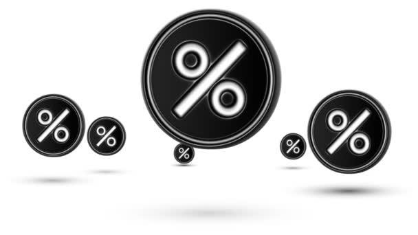 Na lyžích procenta ikony. Opakování. Izolované na bílém pozadí