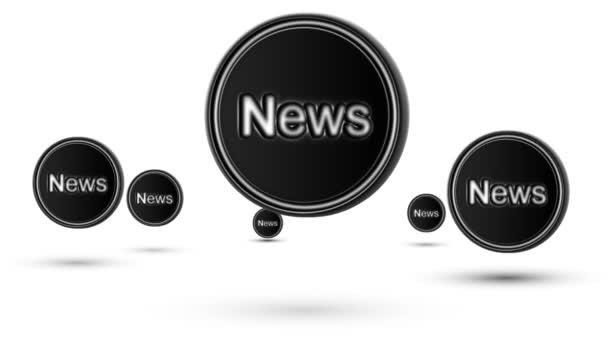 Na lyžích News ikony. Opakování. Izolované na bílém pozadí