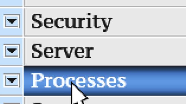 Serveru. Můj návrh menu programu.