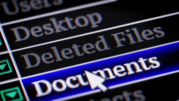 Deleted Files . My own design of program menu.