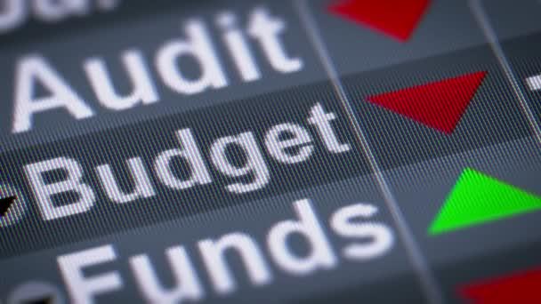 Index z rozpočtu. Dolů. Opakování.