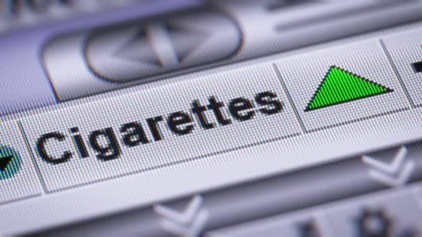 Index a cigaretta. Fel. Hurok.