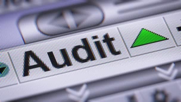 Indexu auditu na obrazovce. Nahoru. Opakování
