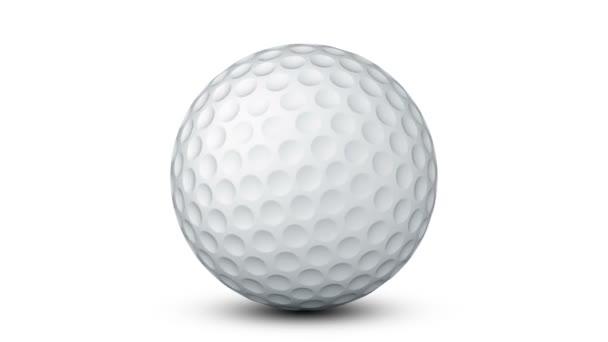 Golfball na bílém povrchu. Opakování. Alfa kanál.