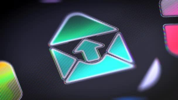 Ikona na obrazovce. 4k rozlišení, opakování záběrů