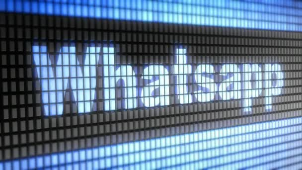 Whatsapp in the blue screen. WhatsApp is a popular social media application for sharing messages, images and videos.