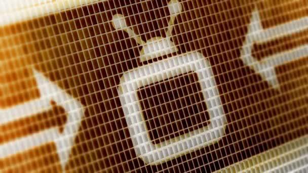 TV-Symbol auf dem Bildschirm. 4k Auflösung. Encoder Prores 4444. Große Qualität. Looping.