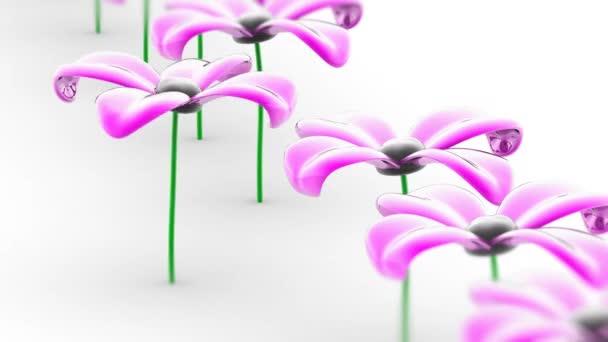die Blume. Looping-Aufnahmen haben eine Auflösung von 4k. prores 4444. 3D-Illustration.