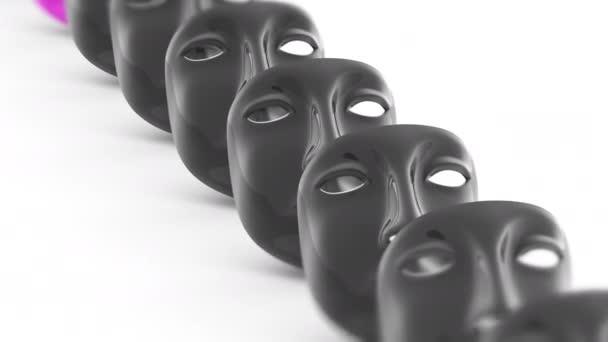 Masku. Opakování záběru má rozlišení 4 k. ProRes 4444. 3D obrázek.