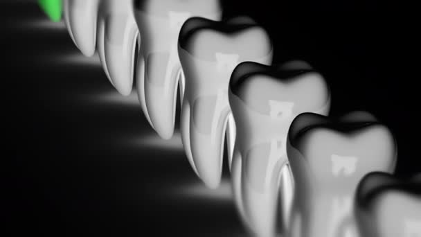 Tooth. Looping footage 4K resolution and alpha channel. Prores 4444.