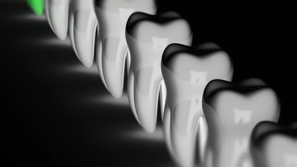 The tooth. Looping footage has 4K resolution. Prores 4444.