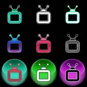 Fotografie Das tv-Symbol. Farbigen Illustration