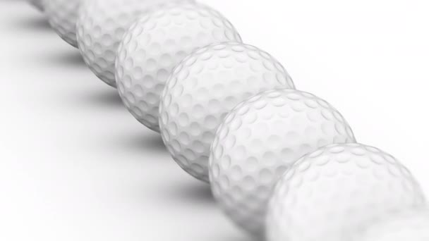 The golfball. Looping footage has 4K resolution. Prores 4444. 3D Illustration.