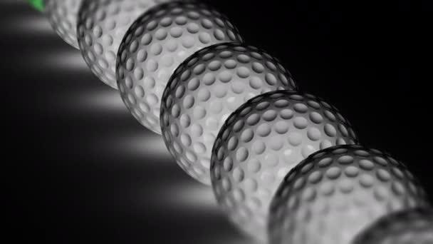 Golfball. Opakování záběru má rozlišení 4 k. ProRes 4444. 3D obrázek.